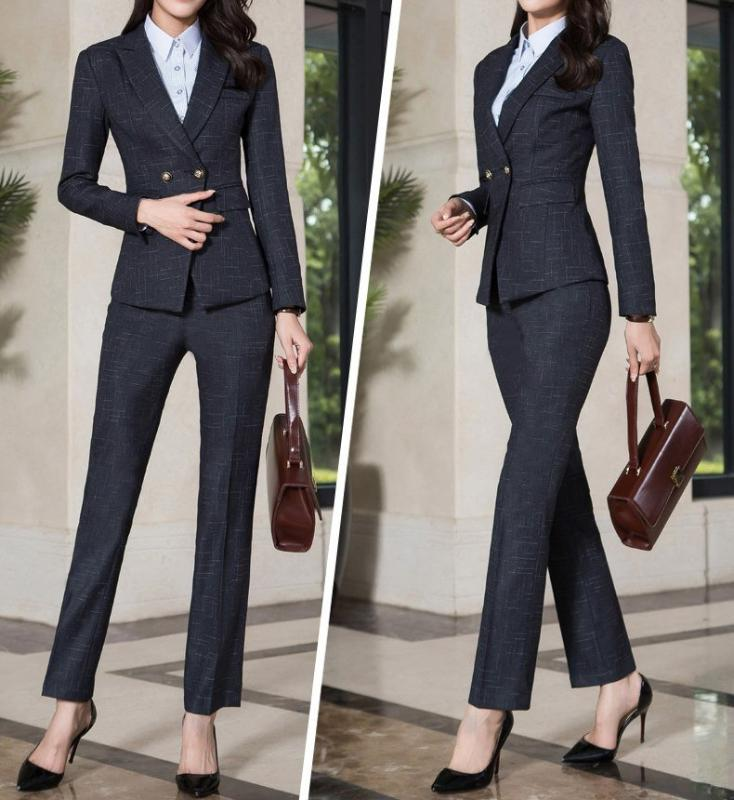 Gemma Crosshatch Power Suit