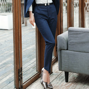 Jackson Blue Small Grid Blue Trousers