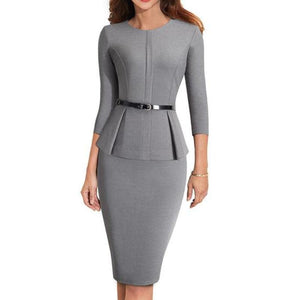 Liv Peplum Work Dress