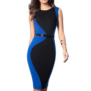 Naty Sleevless Office Dress