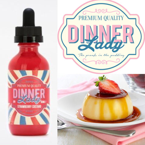 Dinner Lady ~ Strawberry Custard ~ 60ML, eJuice,  Dinner Lady Premium e Liquid,- Lone Star Vapors