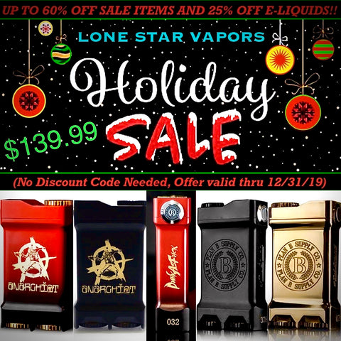 PLAN B SUPPLY CO. X ANARCHIST - THE COLLAB BOX, Mod,  PLAN B SUPPLY CO.,- Lone Star Vapors
