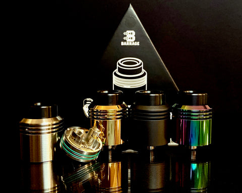 asMODus x Thesis BARRAGE 24mm RDA, Barrage RDA, VAPE RDA, asMODus, Vaping with Thesis, Single Coil RDA,  BARRAGE, Thesis Himself, - Lone Star Vapors