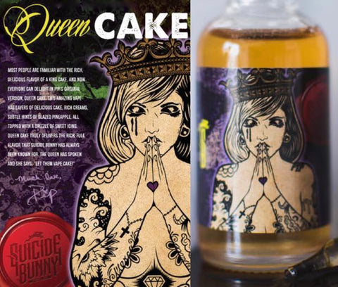 Suicide Bunny - Queen Cake, eJuice,  Suicide Bunny.,- Lone Star Vapors
