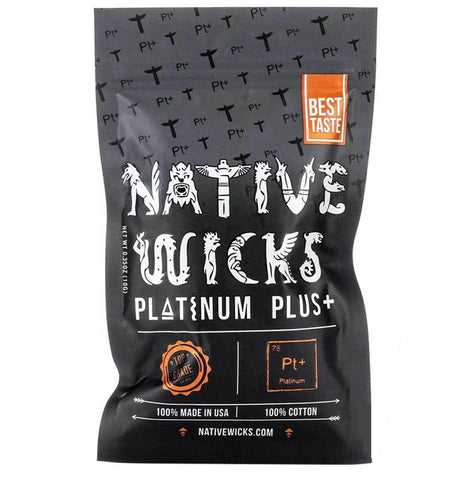 Native Wicks Platinum Plus+ ~ Organic Cotton, Accessory,  Native Wicks,- Lone Star Vapors