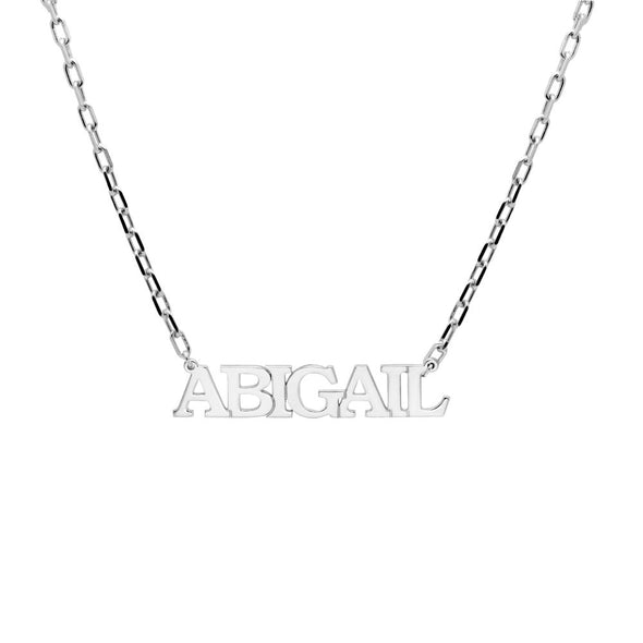 Name Necklace in Capital Letters