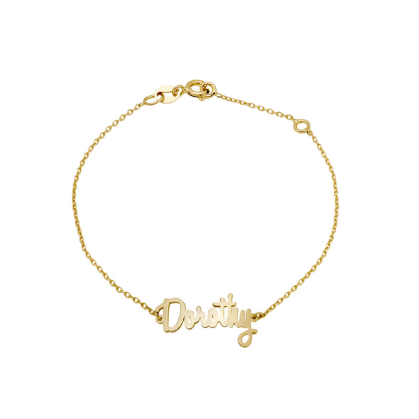 Name Bracelet Gold Plated