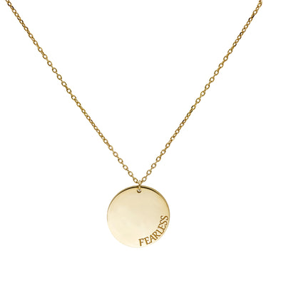 Custom Disc Necklace in Gold Vermeil