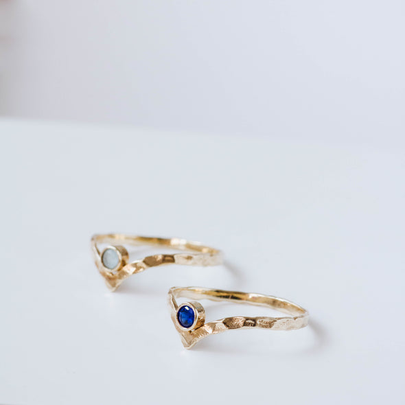 Birthstone V Ring
