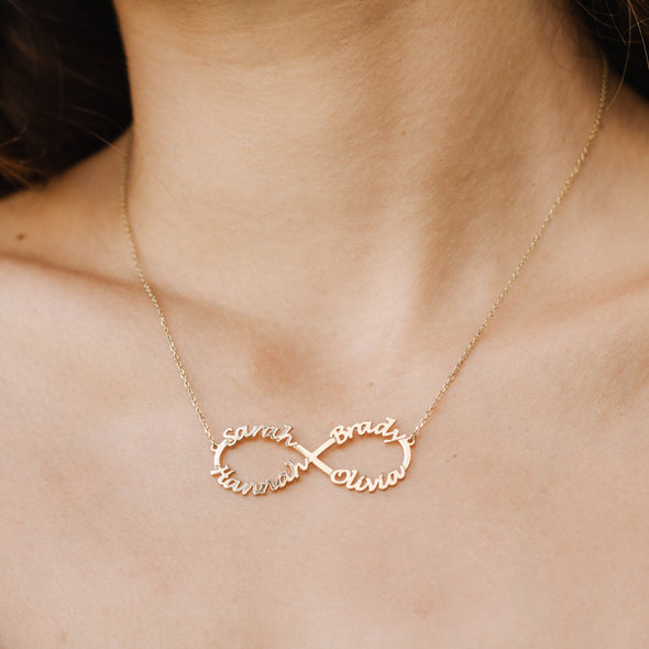 Infinity Name Necklace Gold