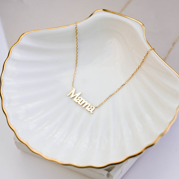 14K Gold Mama Necklace