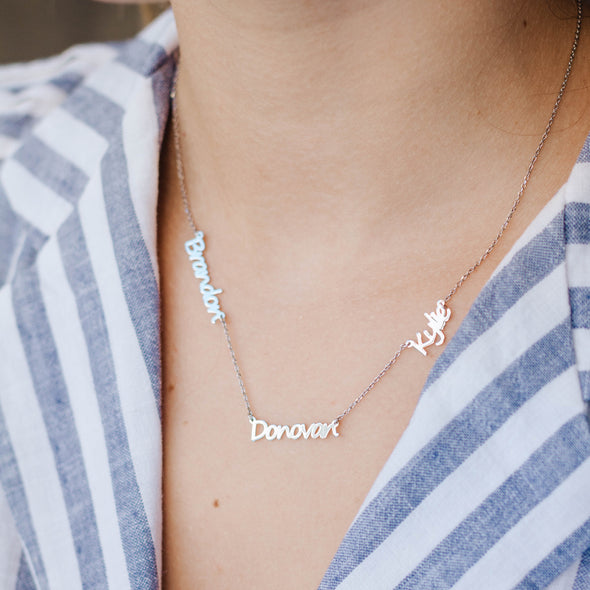 Multiple Names Necklace