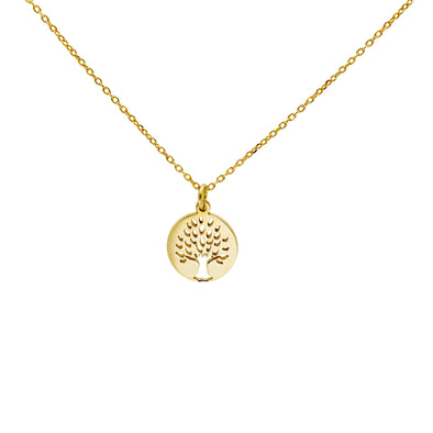 Tree of life gold plated necklace