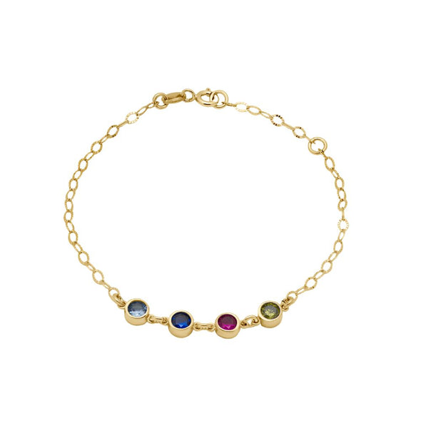 Family Bracelet with Birthstones