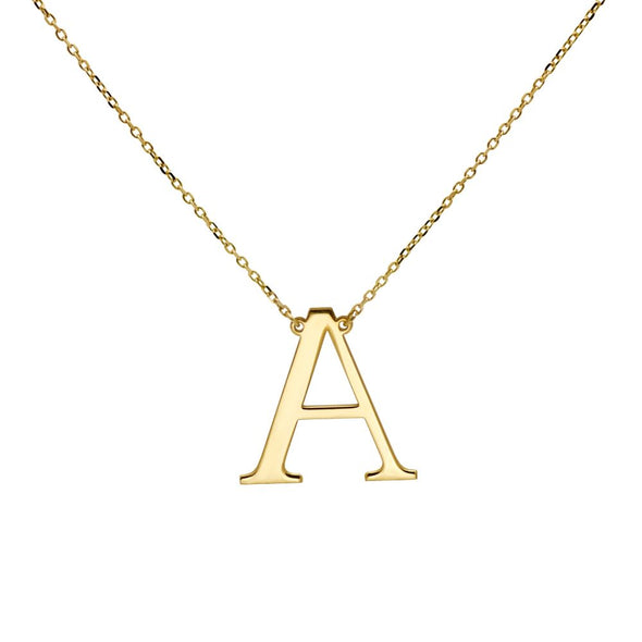Large Initial Necklace