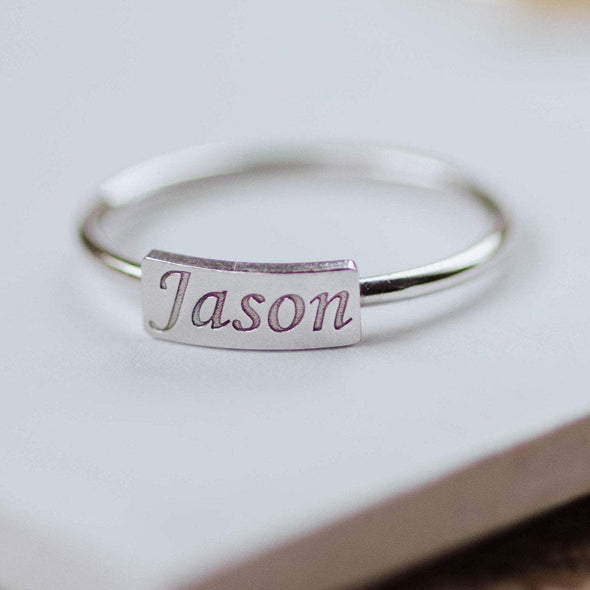 Custom Name Ring 14K Gold