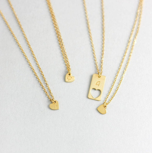 Mother-Daughter Heart Necklace Set