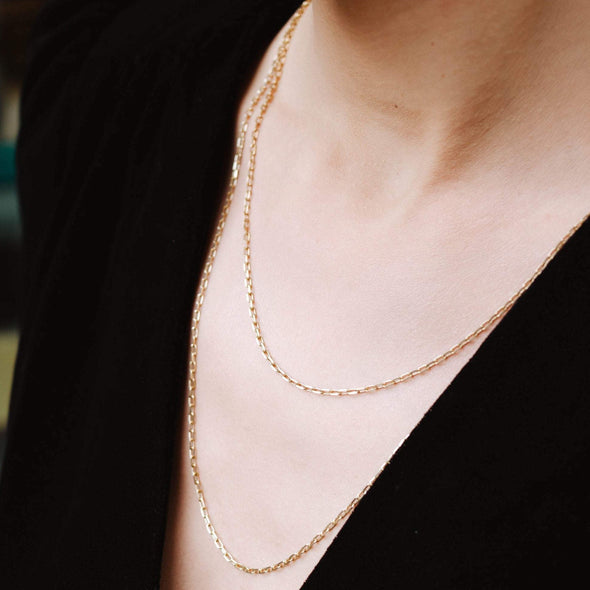 a gold layered necklace