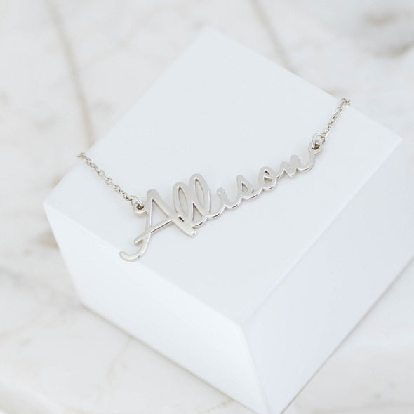 Personalized Script Name Necklace in Gold Vermeil