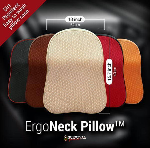 ErgoNeck Pillow - No More Neck Pain After Driving!