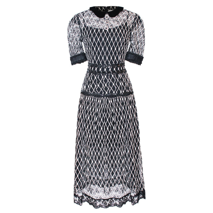 Lattice Lace Dress