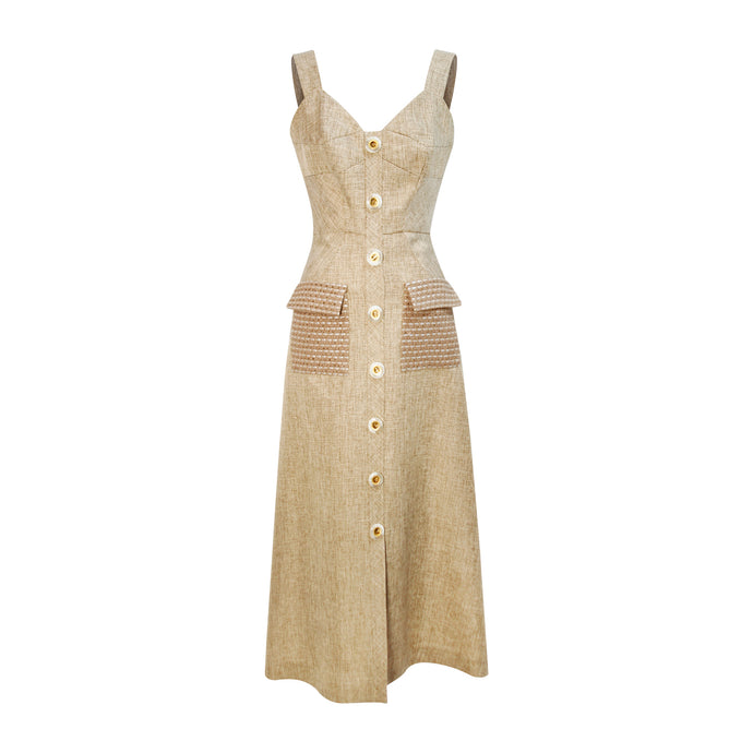 Country Button Dress