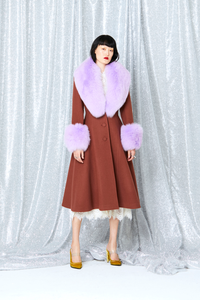 Milo Fur Coat(BROWN)