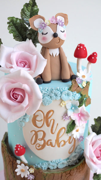 Oh Baby Woodland Cake by The CakeCuppery