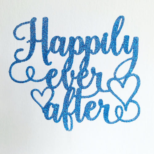 Curly Happily Ever After Custom Topper