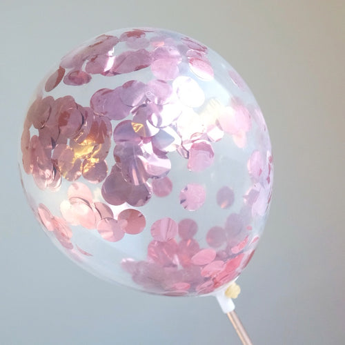 Rose Gold Metallic - Mini Confetti Balloon 2pk