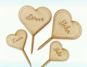 Etched Hearts Toppers