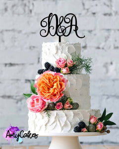 Beautiful Initials Custom Topper