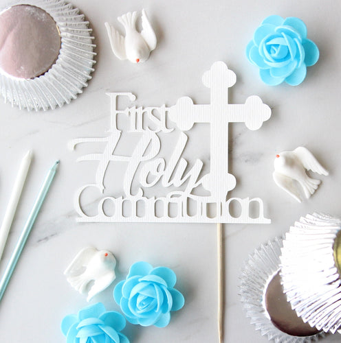 First Holy Communion Paper Card Custom Toppers