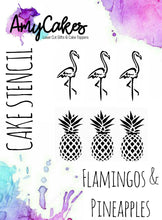 AmyCakes Flamingos & Pineapples Stencil