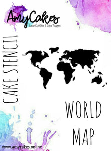 AmyCakes World Map Stencil – AmyCakes Toppers