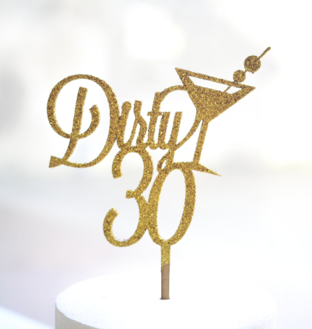 Dirty Number & Martini Custom Topper