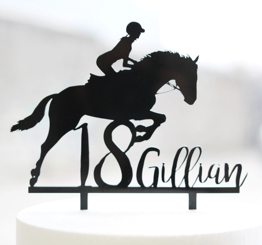 Show Jumping Horse Custom Topper
