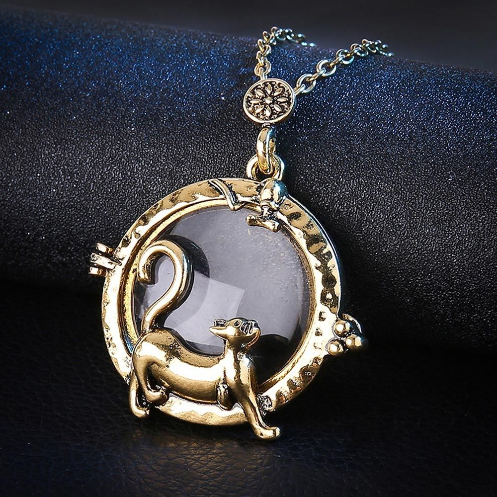 Cat magnifying glass pendant necklace cameow cat magnifying glass pendant necklace cameow mozeypictures Image collections