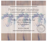 macrame plant hanger workshop- FRIDAY 14th SEPTEMBER @ villa34