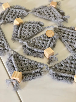 light grey macrame bunting
