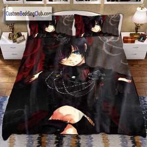 Black Butler Bedding Set with Duvet Covers & Blanket, Ciel Design