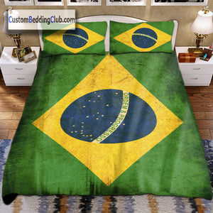 Brazil Flag Bedding Set, Blanket & Bed Sheets