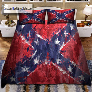Confederate Rebel Flag Bed Set, Bed Sheet, Blanket & Covers