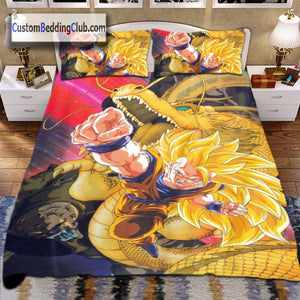 Dragon Ball Z Bed Sheets, Bed Set, Blanket & Covers, Goku Dragon Fist