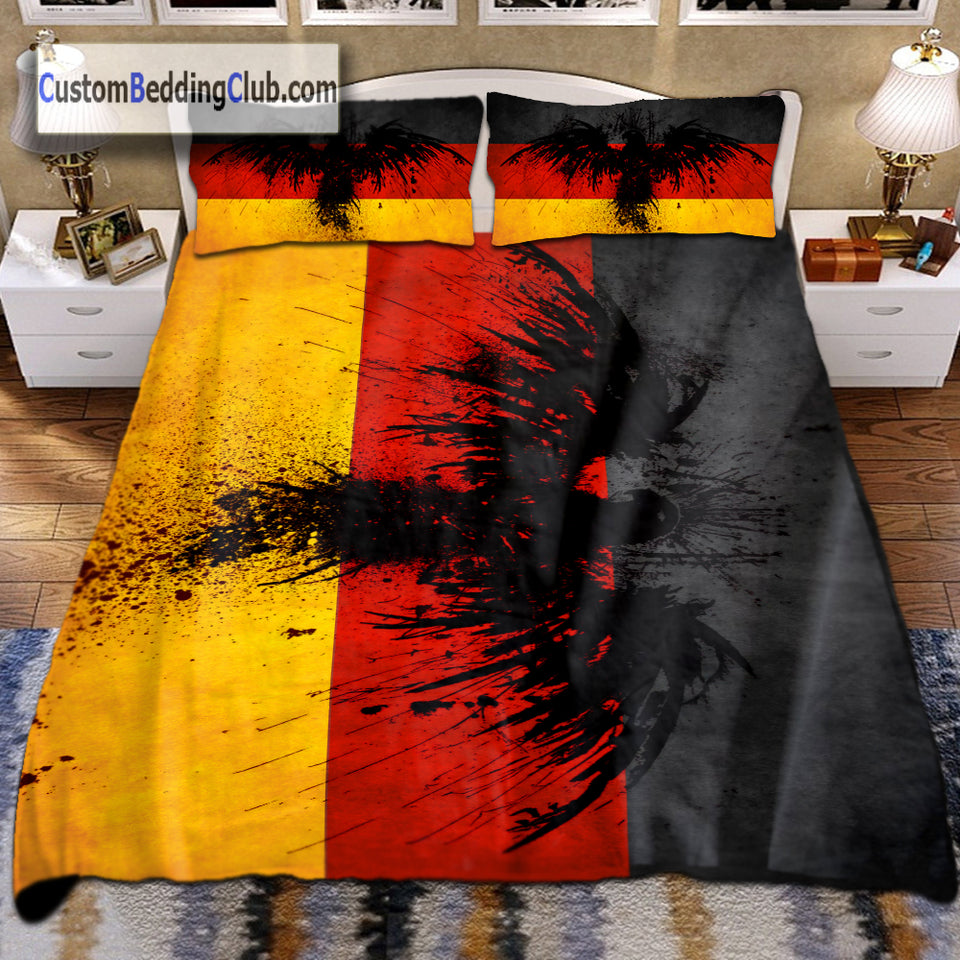 Germany Flag Bedding Set with Eagle Theme