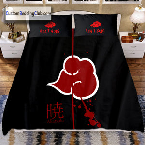Naruto Akatsuki Bed Set, Duvet Cover & Pillow Case