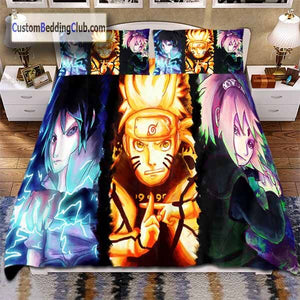 Naruto Bed Set with Sasuke & Sakura