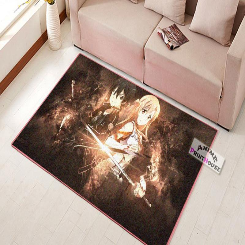 Sword Art Online Rug | Kirito & Asuna Back to Back