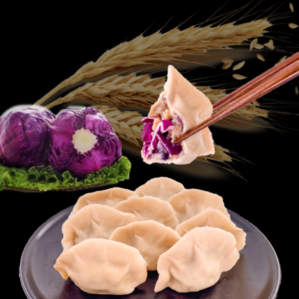 Whole Meal Chicken and Red Cabbage Dumpling
