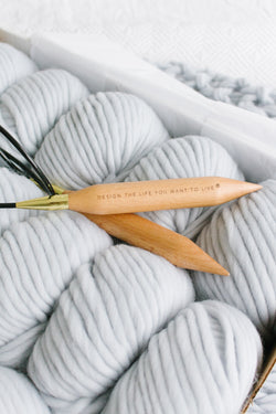 Birch circular knitting needles